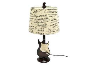 """Creative Motion 13491 - 1 Light 24.5"""" Guitar Table Lamp with Fabric Music Shade"""