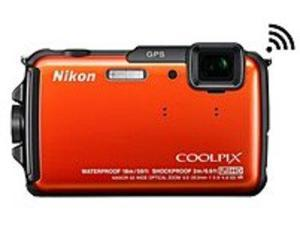 Nikon Coolpix 26412 AW110 16.0 Megapixels Digital Camera - 5x Optical Zoom - 3-inch OLED Display - 5-25 mm Lens - Orange