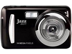 Jazz JDC77 Digital Camera - 14 Megapixels - 4x Optical Zoom/4x Digital Zoom - 2.4-inch LCD - Black