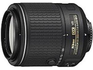 Nikon 55 mm - 200 mm f/4 - 5.6 Telephoto Zoom Lens for Nikon F-bayonet - 52 mm Attachment - 0.23x Magnification - 3.6x Optical Zoom - Optical IS - AF-S - Camera