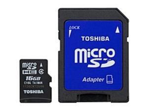 Toshiba 16 GB microSD - Class 4 - 1 Card