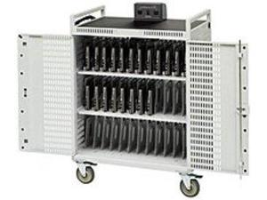 "Bretford NETBOOK36-D 36-Unit Intelligent Netbook Cart - Push Handle Handle - 4 Casters - Steel - 33"" Width x 28.5"" Depth x 45"" Height"