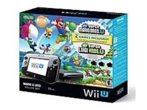 Nintendo WUPSKAFP Wii U -  Deluxe Set with Super Mario Bros U and Super Luigi U - Black