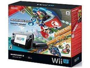 Nintendo Mario Kart 8 Deluxe Set with DLC Wii U bundle - Game Pad Supported - Wireless - Black - ATI Radeon - 1920 x 1080 - 1080p - 32 GB Flash - Wireless LAN - HDMI - USB