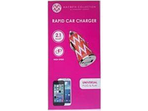 Macbeth Collection MB-CC200-ZGT 2.1A Rapid Car Charger