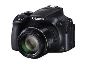 "Canon PowerShot SX60 HS 16.1 Megapixel Bridge Camera - Black - 3"" LCD - 16:9 - 65x Optical Zoom - 4x - Optical (IS) - 4608 x 3456 Image - 1920 x 1080 Video - HDMI - PictBridge - HD Movie Mode - ..."