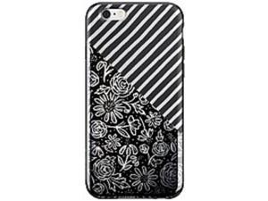 Belkin Components F8W651BTC00 Dana Tanamachi Floral Stripes Case for iPhone 6/6S - Silver, Black