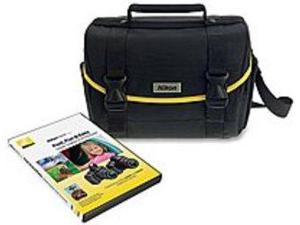 Nikon 09627 Digital SLR Accessory Bag with Nikon School DVD Fast, Fun and Easy III/IV - Black