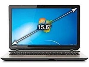 Toshiba Satellite PSKT4U-07D02K L55-B5294 Laptop PC - Intel Core i5-4210U 1.7 GHz Dual-Core Processor - 8 GB DDR3L RAM - 750 GB Hard Drive - 15.6-inch Display - Windows 7 Professional 64-bit ...