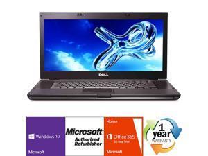 "Dell Latitude E6510 Intel i7 Dual Core 2600 MHz 250Gig Serial ATA 4096mb DVD-RW 15.0"" WideScreen LCD Windows 10 Professional 64 Bit Laptop Notebook"
