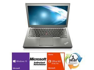 "Lenovo ThinkPad X250 Intel i5 Dual Core 2300MHz 500Gig HDD 8192MB NO OPTICAL DRIVE 12.0"" WideScreen LCD Windows 10 Professional 64 Bit Laptop Notebook"