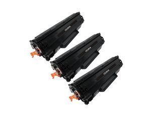 Superb Choice® Compatible Toner Cartridge for HP 85A(CE285A) use in HP LaserJet Pro P1102w Printer - Pack of 3 Black