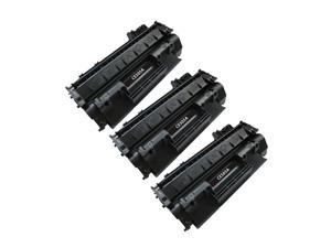 Superb Choice® Compatible Toner Cartridge for HP 05A(CE505A) use in HP LaserJet P2035 Printer - Pack of 3 Black - High Yield