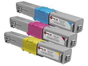 Laser Tek Services® 3 Pack of Oki C310/C510 Standard Yield Replacement Cartridges (1x 44469703, 1x 44469702, 1x 44469701)