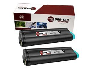 Laser Tek Services® 2 pack Okidata 43979201 Black High Yield Remanufactured Replacement Toner Cartridges for the B430