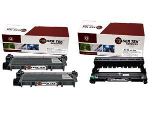 Laser Tek Services® Brother TN660 DR630 Combo Pack of 2 TN660 Compatible Cartridges, and 1 DR630 Compatible Drum Unit