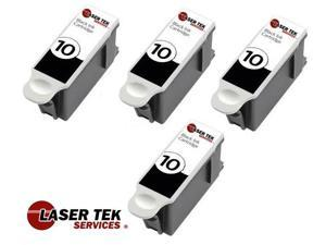 Laser Tek Services® Compatible Replacement Kodak 10XL Black (8237216) Ink Cartridge 4 pack