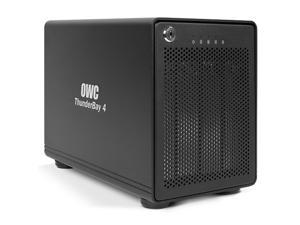 OWC ThunderBay 4 Professional-Grade Enclosure, four-bay drive enclosure with dual Thunderbolt 2 ports, RAID-ready w/cable. Add your own drives! Supports up to 6.0TB Drive per bay. Model OWCTB2IVKIT0GB