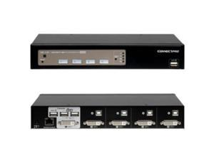CONNECTPRO UD-14-PLUS-KIT 4PORT USB KVM SWITCH DVI WITH DDM  and  ACTIVE DDC