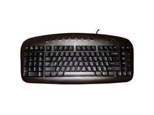 ERGOGUYS KBS-29BLK Left Handed Keyboard Wired USB Black Via Ergoguys