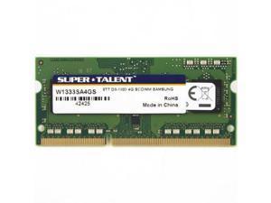 SUPER TALENT W1333SA4GS Super Talent DDR3-1333 SODIMM 4GB512Mx8 CL9 Samsung Chip Notebook Memory