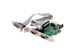 STARTECH.COM PEX2S5531P 2S1P Native PCI Express Parallel Serial Combo Card with 16550 UART