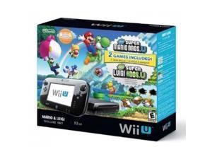 NINTENDO WUPSKAFP Wii U Console Black Deluxe