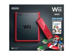 NINTENDO RVOSRAAC Nintendo Wii Mini Red Console with Mario Kart Wii Game
