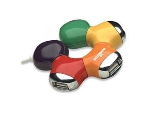 MANHATTAN 161053 Manhattan 4-Port Hi-Speed USB Flex Hub, Bus Power