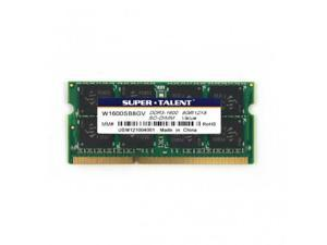 SUPER TALENT PCK#2XW1600SB8GV (2 PACK) Super Talent DDR3-1600 SODIMM 8GB512Mx8 CL11 Notebook Memory