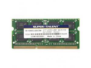 SUPER TALENT W1866SB8GM(SZ) Super Talent DDR3-1866 SODIMM 8GB512Mx8 Micron Chip CL13 Notebook Memory