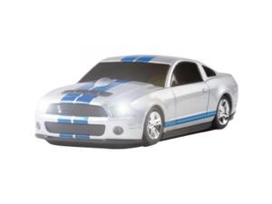 ROAD MICE HP-11FDSHSXB Shelby GT500 Series Car Mouse  / Optical - Wireless - Radio Frequency - Silver, Blue - USB - 800 dpi - Scroll Wheel