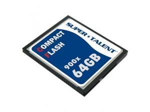 SUPER TALENT CF/64G-900X 900X 64GB High Speed Compact Flash Memory Card (MLC)