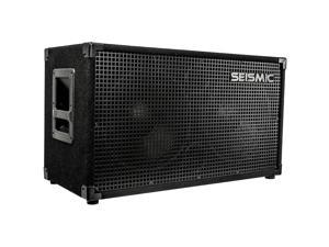 "Seismic Audio - 2x12 Guitar Speaker Cabinet - Two 12"" Speakers in Cab"