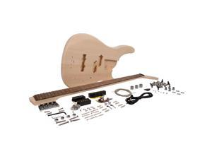 Seismic Audio - SADIYG-18 - DIY Modern Bass Style Electric Bass Guitar Kit - Unfinished Luthier Project Guitar Kit