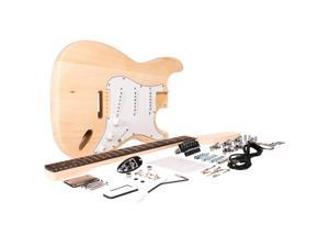 Seismic Audio - SADIYG-01 - Premium Strat Style DIY Electric Guitar Kit - Unfinished Luthier Project Guitar Kit