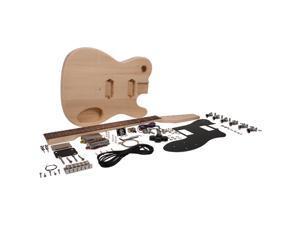 Seismic Audio - SADIYG-04 - Premium DIY Tele Style Electric Guitar Kit - Dual Humbucker pickups - Unfinished Luthier Project Guitar Kit