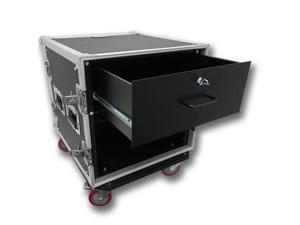 Seismic Audio - 10 Space Rack Flight Case with 4 Space Rack Drawer
