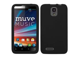 Black Solid Silicone Skin Cover Case for ZTE Engage LT N8000
