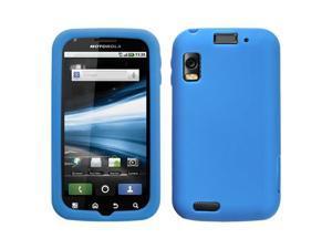 Dark Blue Solid Silicone Skin Cover Case for Motorola Olympus/Atrix 4G MB860