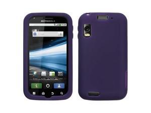 Dark Purple Solid Silicone Skin Cover Case for Motorola Olympus/Atrix 4G MB860