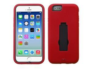 For iPhone 6s/6 Black/Red Symbiosis Cover +Kick Stand Protector Case
