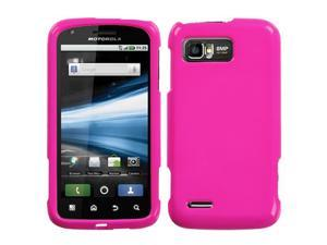 For MB865 Atrix 2 Solid Shocking Pink Hard Snap On Phone Protector Cover Case