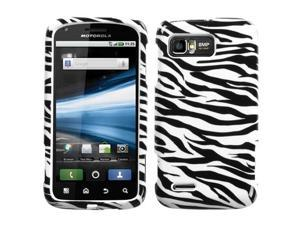 For MB865 Atrix 2 Zebra Skin Hard Snap On Phone Protector Cover Case