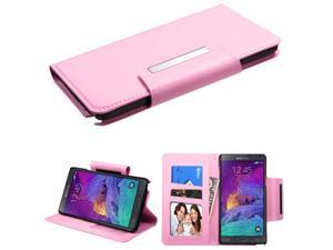 For Galaxy Note 4 Pink Book-Style MyJacket Wallet (with card slot)