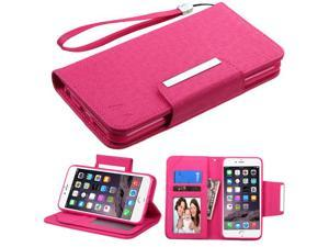 For iPhone 6s/6 Plus Hot Pink D'Lux MyJacket Wallet with Magnetic Closure