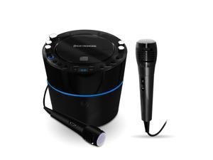 Electrohome EAKAR300 Karaoke CD+G Player Speaker System with MP3 and 2 Microphones for Duets