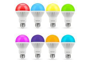 Nyrius Wireless Smart LED Multicolor Light Bulb (8 PACK) for Smartphone, iOS & Android App Controls On/Off, Scheduling