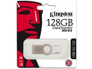 Kingston 128GB DataTraveler 101 Generation 3 DT101 G3 128G USB 3.0 Flash Memory Pen Thumb Drive DT101G3/128GB with OEM USB Lanyard