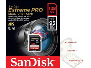 SanDisk 128GB SD Extreme Pro 95MB/s UHS-I U3 4K Class 10 C10 128G SDXC memory card SDSDXPA-128G with plastic case
